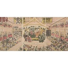 Utagawa Toyonobu: Triptych: Theater - Harvard Art Museum