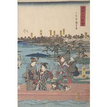 歌川広重: Sumidagawa watashi no zu, from the series Tôto meisho zue - ハーバード大学