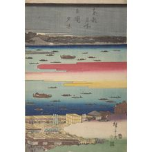 Utagawa Hiroshige: Famous Places of the Eastern Capital: Evening Cool at Ryôgoku Bridge - Harvard Art Museum