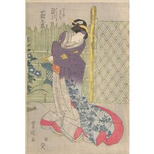 Utagawa Toyokuni I: Actor Segawa Kikunojô (One of Three Kabuki Actors), Late Edo period, circa 1820-1825 - Harvard Art Museum