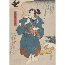 Utagawa Kuniyoshi: Actor Nakamura Utaemon 4th (One of Three Kabuki Actors), Late Edo period, circa 1847-1852 - Harvard Art Museum