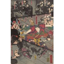 Utagawa Yoshitora: Surprise Attack at Night at Kumasaka (Kumasaka yau chi no zu), Late Edo period, circa 1845 - Harvard Art Museum