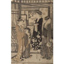 Hosoda Eishi: Fûryû Yatsushi Genji: Asagao, Late Edo period, circa 1790 - Harvard Art Museum