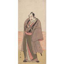 Katsukawa Shunsho: Actor Nakamura Sukegorô 2nd as Kaminari Shôkurô in the play Hatsumombi Kuruwa Soga, performed at the Nakamura Theater from the second month of 1780, Edo period, 1780 (2nd month) - Harvard Art Museum