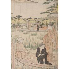 Katsukawa Shunko: Beauties on Verandah Admiring Iris Pond - Harvard Art Museum