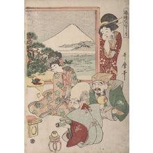 Kitagawa Utamaro: Seven Gods of Good Fortune (Shichifukujin) and Otafuku at New Year's - Harvard Art Museum
