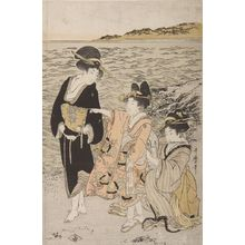 Kitagawa Utamaro: Women at the Beach of Futami-ga-ura, Late Edo period, circa 1803-1804 - Harvard Art Museum