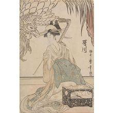 喜多川歌麿: Courtesan Utagawa of the Matsubaya (Matsubaya no Utagawa), Late Edo period, circa 1799 - ハーバード大学