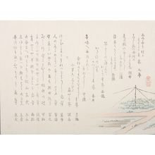 無款: Surimono with Poems and Rice Paddies, ATTRIBUTED TO SHOZAI, Late Edo to Meiji period, circa 1860-1870 - ハーバード大学