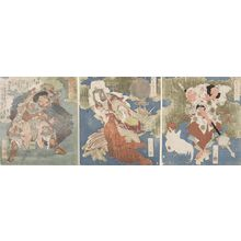 Totoya Hokkei: SPRING OF IWATO, AME NO KOYANE CARRYING BOARDS. - Harvard Art Museum