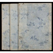 北尾重政: Sketches of Birds and Flowers (Hanatori sharei zu) in 3 volumes - ハーバード大学