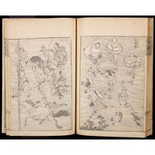 葛飾北斎: Random Sketches by Hokusai (Hokusai manga) Vol. 4, Late Edo period, dated 1816 - ハーバード大学