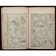 Katsushika Hokusai: Random Sketches by Hokusai (Hokusai manga) Vol. 4, Late Edo period, dated 1816 - Harvard Art Museum