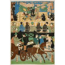 Utagawa Yoshitora: View of the Amusements of the Foreigners in Yokohama, Bushu (Bushu Yokohama gaikokujin yûkyô no zu), published by Yamadaya Shôjirô, Late Edo period, first month of 1861 - Harvard Art Museum