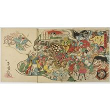 Unknown: Triptych: Demonic Revelry, Meiji period, late 19th century - Harvard Art Museum