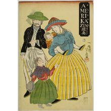 芳藤: An American Family (Amerikajin), published by Sôto, Late Edo period, second month of 1861 - ハーバード大学