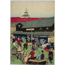 Ikkei: Nihonbashi Street Scene, Early Meiji period, late 19th century - Harvard Art Museum