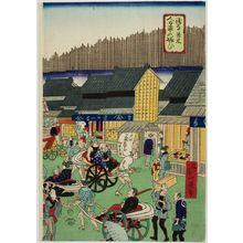 無款: Street Scene, Early Meiji period, late 19th century - ハーバード大学