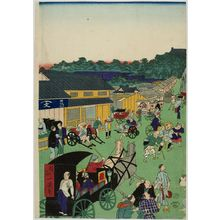 Unknown: Street Scene, Early Meiji period, late 19th century - Harvard Art Museum