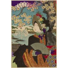 Unknown: Emperor Viewing Flowers, Meiji period, 1887 - Harvard Art Museum