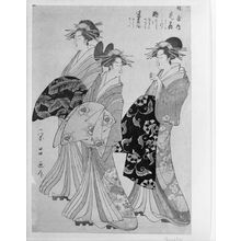 Hosoda Eishô: Three Women Walking - ハーバード大学