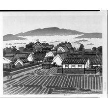 橋本興家: Landscape with Yumedono, Shôwa period, dated 1973 - ハーバード大学