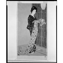 Hashiguchi Goyo: Woman in Summer Kimono (Natsu yosôi no musume), Taishô period, dated 1920 - Harvard Art Museum