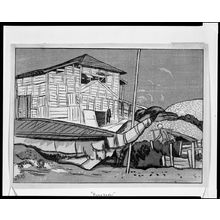 Ishii Hakutei: Funabashi [in Chiba, Shimosa District, from the series Japan Scenery Prints (Nihon fûkei hanga)?], Taishô period, circa 1917 - Harvard Art Museum