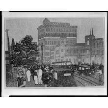 織田一磨: Twilight on a City Street, Shôwa period, dated 1929 - ハーバード大学