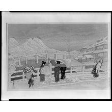 織田一磨: Great Bridge at Matsue (Matsue ôhashi), Taishô period, dated 1924 - ハーバード大学