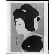 Yamamura Toyonari: Onnagata in Black Looking to Lower Left, Taishô period, circa 1920-1922 - ハーバード大学