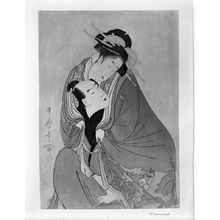 喜多川歌麿: Courtesan Dallying with Her Lover, Mid to Late Edo period, circa 1890s? - ハーバード大学