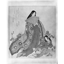 Katsushika Taito: Court Lady and Little Girl - ハーバード大学