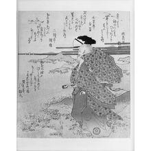 Totoya Hokkei: POET WATCHING DESCENDING CRANES AT WAKANOWA BAY - Harvard Art Museum