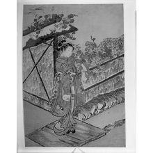 Suzuki Harunobu: Parody of the Yûgao Chapter of the Tale of Genji (Genji monogatari), Edo period, circa 1766 (Meiwa 3) - Harvard Art Museum