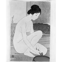 Hashiguchi Goyo: After the Bath / Woman at the Bath (Yokujô no onna?), Taishô period, dated 1915 - Harvard Art Museum