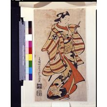 鳥居清倍: Actor Tomizawa Hansaburô as a Wakashu, Edo period, datable to 1715 - ハーバード大学