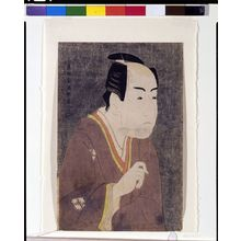 Toshusai Sharaku: Actor Ichikawa Monnosuke 2nd as Date no Yosaku from the Play