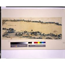 Katsushika Hokusai: Wide View of Both Banks of the Sumida River, Edo, Edo period, circa 1804 - Harvard Art Museum
