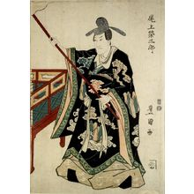 歌川豊国: Actor Onoe Eizaburô in the role of a Chinese Courtier, Edo period, 19th century - ハーバード大学