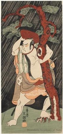 一筆斉文調: Actor Ötani Hiroji III - ホノルル美術館