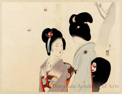 富岡英泉: Coloration of Maple Leaves - ホノルル美術館