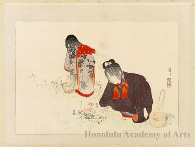 Tomioka Eisen: Picking Wild Flowers - Honolulu Museum of Art