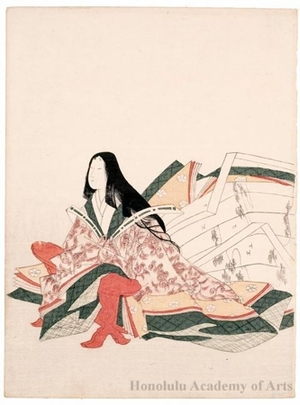 Hosoda Eishi: The Poetess Kodai no Kimi (late 10th-early 11th century) - Honolulu Museum of Art