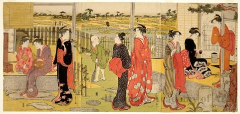 Hosoda Eishi: Early Afternoon at the Country House - Honolulu Museum of Art
