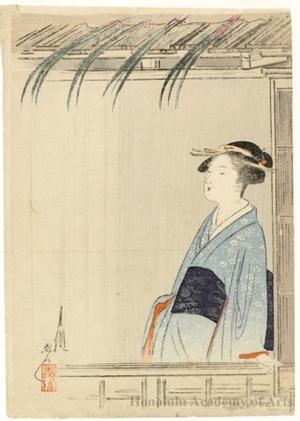 尾形月耕: Irises - ホノルル美術館