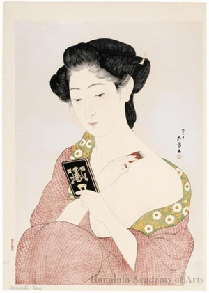 Hashiguchi Goyo: A Woman Applying Makeup - Honolulu Museum of Art