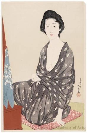 Hashiguchi Goyo: Summer Kimono - Honolulu Museum of Art