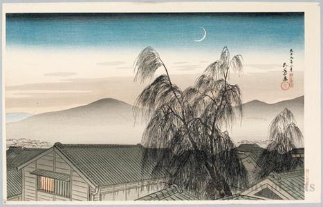 Hashiguchi Goyo: Crescent Moon Over Kobe - Honolulu Museum of Art