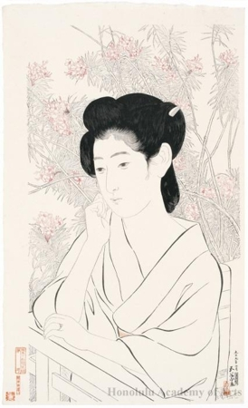 Hashiguchi Goyo: Woman At Hot Spring Inn - Honolulu Museum of Art